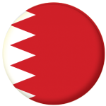 Bahrain Country Flag 58mm Mirror Keyring